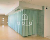 学校 カーテンを利用してお着替えスペースを作成